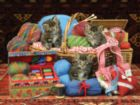 Kittens in the Basket - 500pc Jigsaw Puzzle by Sunsout