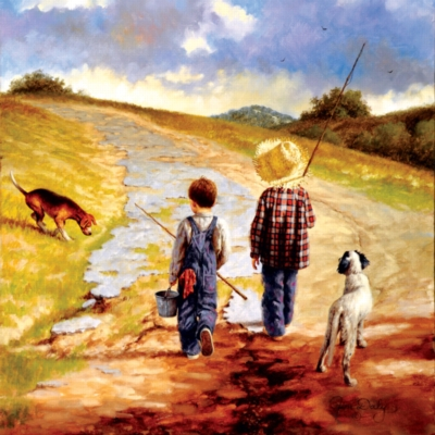 A Fine Afternoon for Fishing - 500pc Jigsaw Puzzle by SunsOut
