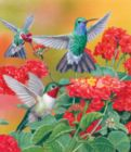 Hummingbirds and Flowers - 550pc Jigsaw Puzzle by SunsOut