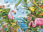 Flamingos by the Sea - 500pc Jigsaw Puzzle by SunsOut