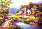 Bridge to the Chapel - 500pc Jigsaw Puzzle by SunsOut