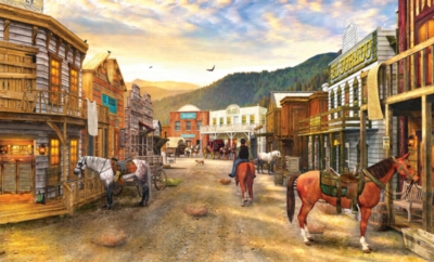 Wild West Town - 550pc Jigsaw Puzzle by SunsOut
