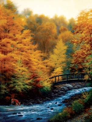 Autumn Stream - 500pc Jigsaw Puzzle by Sunsout