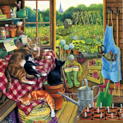 Garden Helpers - 500pc Jigsaw Puzzle by Sunsout
