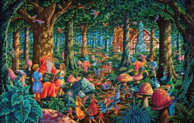 Fairytale Forest - 550pc Jigsaw Puzzle by Sunsout
