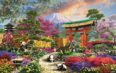 Fuji Flora - 550pc Jigsaw Puzzle by Sunsout