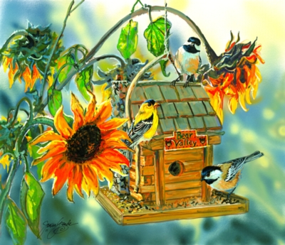 Birds at Bear Valley - 550pc Jigsaw Puzzle by Sunsout