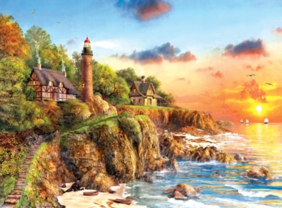 Sunset at Craggy Point - 1000pc Jigsaw Puzzle by Sunsout