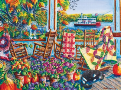 Quilting Around Chautauqua - 1000pc Jigsaw Puzzle by SunsOut