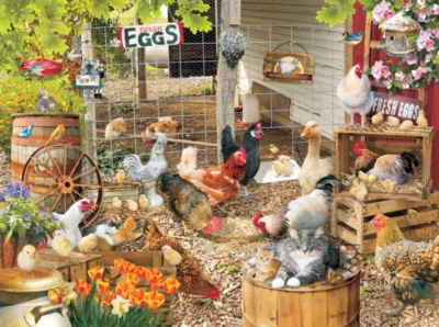 Barnyard Families - 1000pc Jigsaw Puzzle by Sunsout