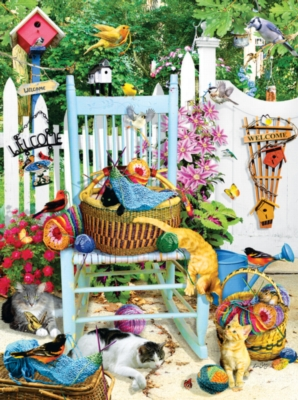 The Knitting Chair - 1000pc Jigsaw Puzzle by Sunsout