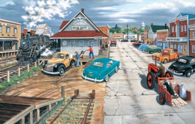 Tracking Memories on Main - 1000pc Jigsaw Puzzle by Sunsout