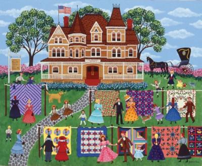 Quilt Sale - 1000pc Jigsaw Puzzle by SunsOut