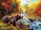 Bears at the Stream - 1000pc Jigsaw Puzzle by Sunsout