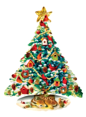 Forest Christmas - 1000pc Shaped Jigsaw Puzzle by Sunsout
