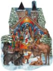Forest Nativity - 1000pc Shaped Jigsaw Puzzle by SunsOut