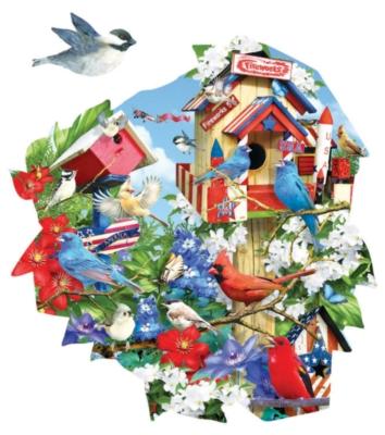 Birdhouse Celebration - 1000pc Jigsaw Puzzle by SunsOut