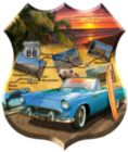 California 66 - 1000pc Shaped Jigsaw Puzzle by Sunsout