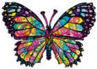 Stained Glass Butterfly - 1000pc Shaped Jigsaw Puzzle by Sunsout