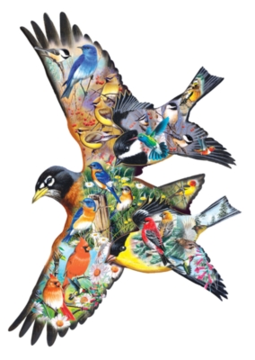 Bird Song - 1000pc Shape Jigsaw Puzzle by SunsOut