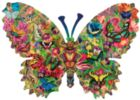 Butterfly Menagerie - 1000pc Shaped Jigsaw Puzzle by SunsOut