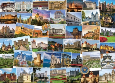 Castles & Palaces Globetrotter - 1000pc Jigsaw Puzzle by EuroGraphics