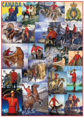 RCMP - Royal Canadian Mounted Police Vintage Art - 300pc Jigsaw Puzzle by Eurographics
