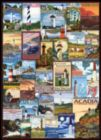 Vintage Art Collage - Lighthouses - 1000pc Jigsaw Puzzle by Eurographics