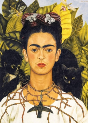 Frida Kahlo & Diego Rivera: Self-Portrait w/Thorn Necklace & Hummingbird - 1000pc Jigsaw Puzzle by Eurographics
