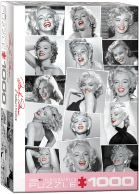 Celebrities: Marilyn Monroe - Red Lips - 1000pc Jigsaw Puzzle by Eurographics