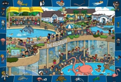 Crazy Aquarium - 100pc Jigsaw Puzzle by Eurographics