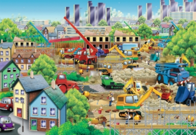 Busy Building - 24pc Super Sized Jigsaw Floor Puzzle by Ravensburger