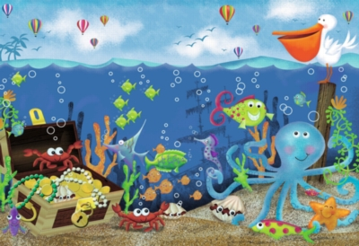 Underwater Treasure - 24pc Super Sized Jigsaw Floor Puzzle by Ravensburger