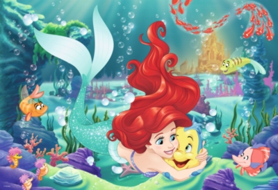 Hugging Ariel - 24pc Giant Jigsaw Floor Puzzle by Ravensburger