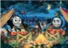 Thomas and Friends: Thomas Camps - 60pc Glow-in-the-Dark Giant Jigsaw Floor Puzzle By Ravensburger