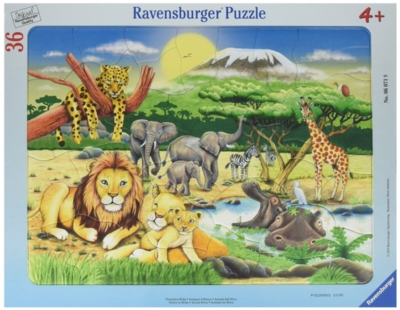 African Animals - 36pc Frame Puzzle by Ravensburger