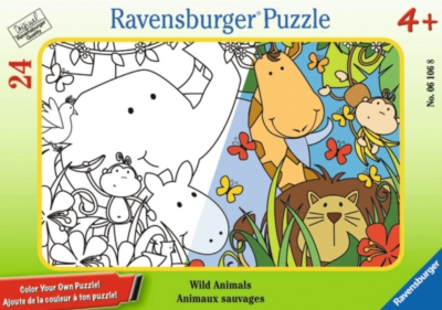 Wild Animals - 24pc Color Your Own Mini Frame Puzzle by Ravensburger