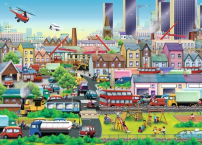 Busy Neighborhood - 60pc Jigsaw Puzzle By Ravensburger