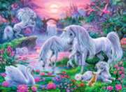 Unicorns in the Sunset Glow - 150pc Jigsaw Puzzle By Ravensburger