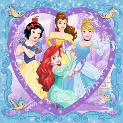 Lovely Disney Princesses - 150pc Heart Shaped Puzzle by Ravensburger