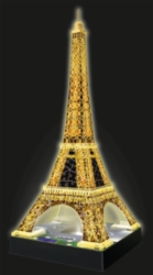 Eiffel Tower: Night Edition - 216pc Light-Up 3D Jigsaw Puzzle By Ravensburger
