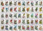 50 Bird Stamps - 300pc Large Format Jigsaw Puzzle By Ravensburger