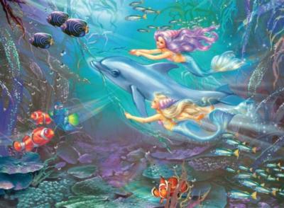 Little Mermaids - 100pc Glitter Jigsaw Puzzle By Ravensburger