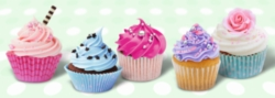 Cupcakes - 500pc Panoramic Jigsaw Puzzle By Ravensburger
