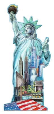 Statue of Liberty - 1000pc Shaped Jigsaw Puzzle by Ravensburger
