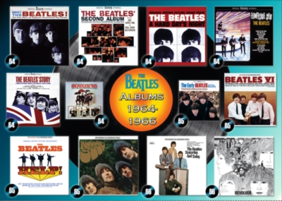 Beatles: Albums 1964-66 - 1000pc Jigsaw Puzzle By Ravensburger