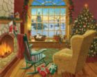 Cozy Christmas Cat - 1000pc Jigsaw Puzzle by White Mountain