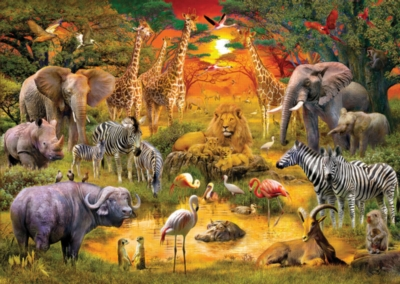 African Harmony - 100pc Jigsaw Puzzle by White Mountain