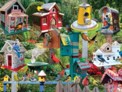 550 piece bird house collage puzzle