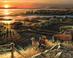 Sun setting over the farm - 1,000 piece puzzle